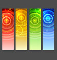 abstract vertical banners with circles and stars vector image