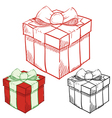 christmas sketches vector image