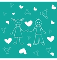 freehand drawing Boy and girl Great love vector image