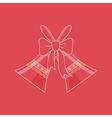 Holiday Crystal Glass Jingle Bells vector image