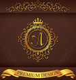 Letter A Luxury Logo template flourishes vector image