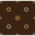 nautical brown pattern seamless eps10 vector image