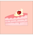Peace of cake vector image