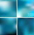 set of blue blurred background vector image