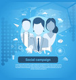 social campaign marketing business concept web vector image