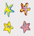 Stars in Different Colors for Baby vector image