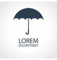 Umbrella flat icon Safety protection rain autumn vector image
