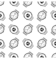 Monochromic seamless pattern with watches vector image