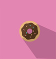 A Donut With Chocolate Icing vector image vector image