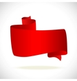 red banner for text hoizontal vector image vector image