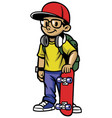 skater boy pose vector image