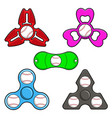 Hand spinner toys with baseball ball flat vector image