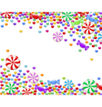 background of candies vector image