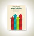 Modern brochure design with color arrows set vector image vector image