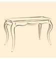 Sketched table vector image