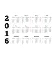 Calendar 2016 year on Spanish language A4 sheet vector image