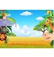 funny animal cartoon vector image vector image