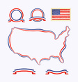 Colors of USA vector image