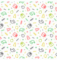 flat outline christmas seamless pattern vector image