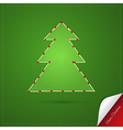 Green Abstract Merry Christmas Background vector image