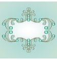 jewelry pattern frame vector image