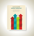 Modern brochure design with color arrows set vector image