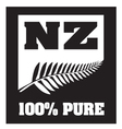 New Zealand Silver Fern vector image