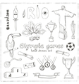 Olympic games Rio 2016 in Brazil vector image