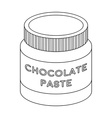 Chocolate paste icon in outline style isolated on vector image