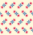 Scandinavian flowers - seamless tulips pattern vector image
