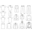 man clothes collection vector image vector image