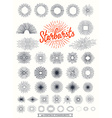 handmade sunburst design elements vector image vector image