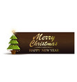 christmas banner with fir-tree vector image