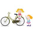 Kids on a bike vector image