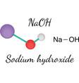 NaOH sodium hydroxide molecule vector image