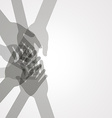 unity hands vector image
