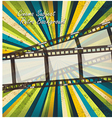 Old negative film strip vector image vector image