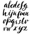 Hand drawn font made by dry brush strokes Grunge vector image