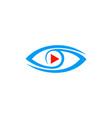 video play eye logo vector image