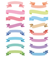 various ribbons set design elements vector image vector image
