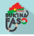 Burkina Faso Typography Design vector image