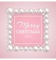 Christmas pearl frame fashion pearls vector image