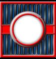 Chrome retro frame vector image