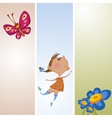 Frame with flower and butterfly vector image