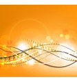 Orange Background with Curved Lines vector image
