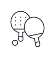 ping pong line icon sign on vector image