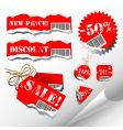 sale tags vector image