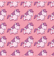 seamless pattern with pegasus in kawaii japanese vector image