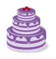 Tasty chocolate cake vector image