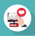 ebook design reading icon white backgroun vector image